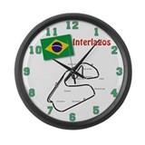 Interlagos Large Wall Clock
