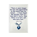 Mother Teresa Love Rectangle Magnet (10 pack)