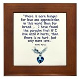 Mother Teresa Love Framed Tile