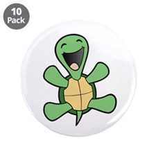 "Happy Turtle 3.5"" Button (10 pack)"