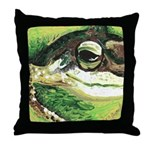 """Bob"" the toad Throw Pillow"