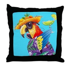 Funny Tropical Throw Pillow