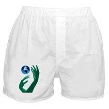 Globe and Hands Boxer Shorts