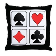 Poker Suit Throw Pillow