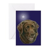 Chocolate Lab Star Greeting Cards (Pk of 20)