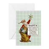 Santa Greeting Cards (Pk of 10)