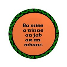 "Unrepentant Fenian 3.5"" Button (100 pack)"