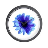 Blue Daisy Wall Clock