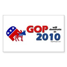 GOP Dominates in 2010 Rectangle Decal