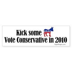 Kick some. Vote Conservative Sticker (Bumper 50 pk