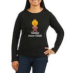 Cardiac Nurse Chick Women's Long Sleeve Dark T-Shi