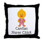 Cardiac Nurse Chick Throw Pillow