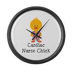 Cardiac Nurse Chick Large Wall Clock
