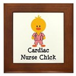 Cardiac Nurse Chick Framed Tile