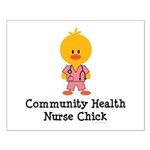 Community Health Nurse Chick Small Poster