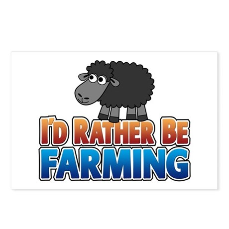 I'd Rather be Farming Postcards (Package of 8)