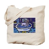 WEIMARANER bath Tote Bag