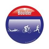 Interstate Boulder Triathlon Ornament (Round)