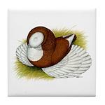 Bokhara Trumpeter Pigeon Tile Coaster