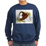 Bokhara Trumpeter Pigeon Sweatshirt (dark)