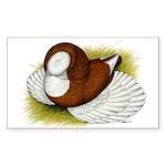 Bokhara Trumpeter Pigeon Rectangle Sticker 10 pk)