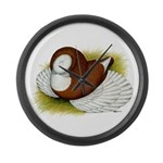 Bokhara Trumpeter Pigeon Large Wall Clock