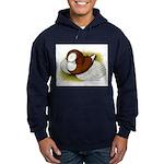 Bokhara Trumpeter Pigeon Hoodie (dark)