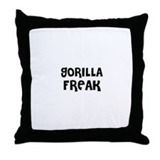 GORILLA FREAK Throw Pillow