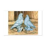 Lavender West Pigeons Mini Poster Print