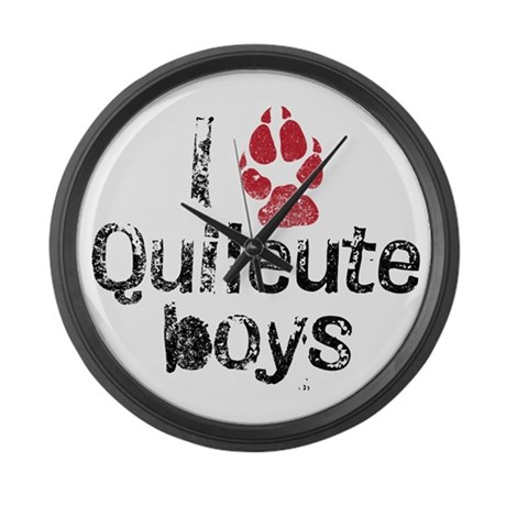 I Paw Quileute Boys Large Wall Clock