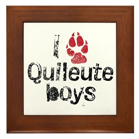 I Paw Quileute Boys Framed Tile