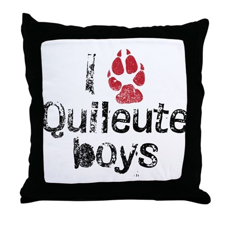I Paw Quileute Boys Throw Pillow