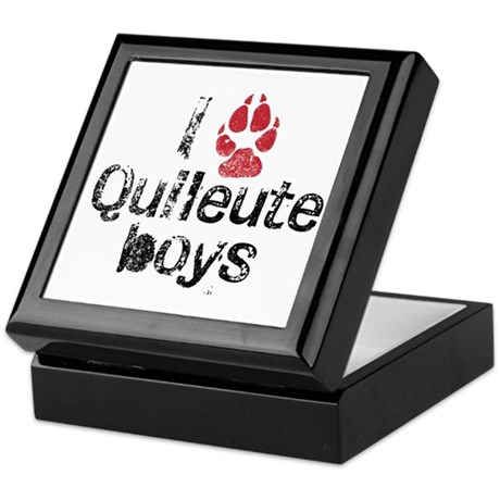 I Paw Quileute Boys Keepsake Box