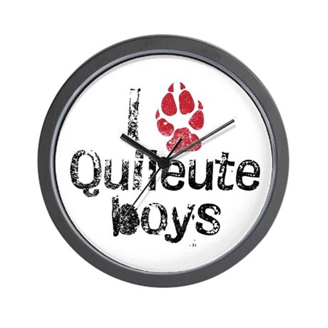I Paw Quileute Boys Wall Clock