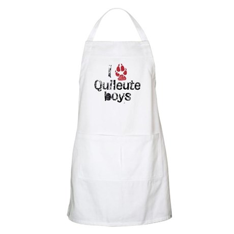 I Paw Quileute Boys BBQ Apron