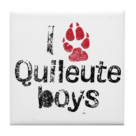 I Paw Quileute Boys Tile Coaster
