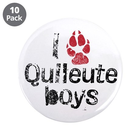 I Paw Quileute Boys 3.5&quot; Button (10 pack)