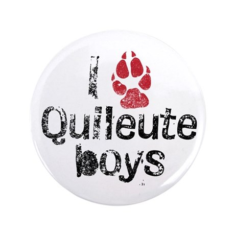 I Paw Quileute Boys 3.5&quot; Button