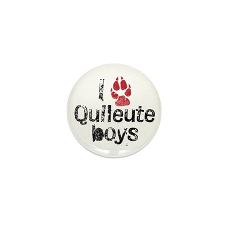 I Paw Quileute Boys Mini Button (100 pack)