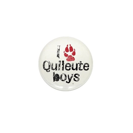 I Paw Quileute Boys Mini Button