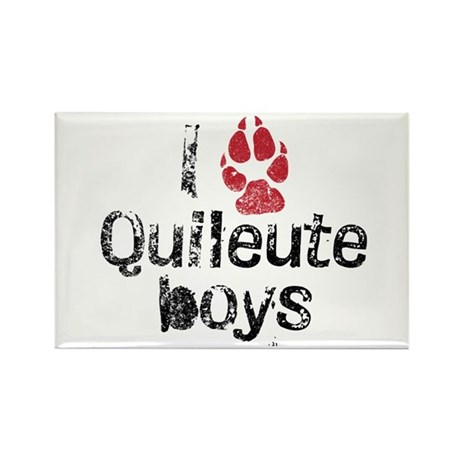 I Paw Quileute Boys Rectangle Magnet (100 pack)