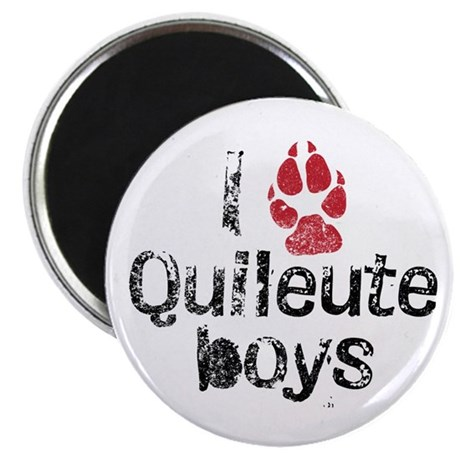 I Paw Quileute Boys 2.25&quot; Magnet (100 pack)