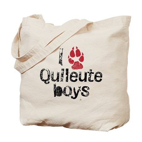 I Paw Quileute Boys Tote Bag