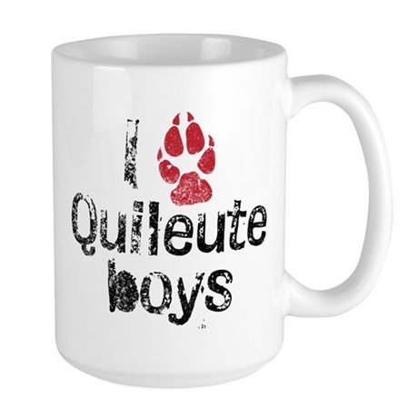 I Paw Quileute Boys Large Mug