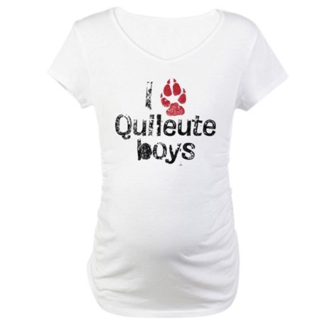 I Paw Quileute Boys Maternity T-Shirt