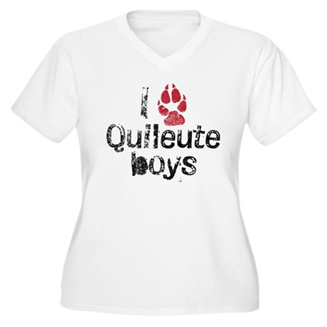 I Paw Quileute Boys Women's Plus Size V-Neck T-Shi