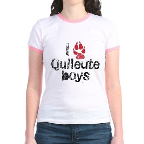 I Paw Quileute Boys Jr. Ringer T-Shirt