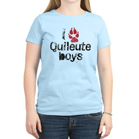 I Paw Quileute Boys Women's Light T-Shirt