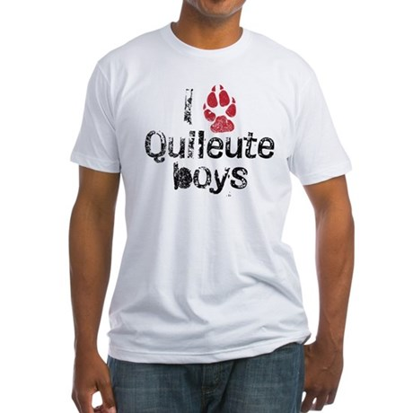 I Paw Quileute Boys Fitted T-Shirt
