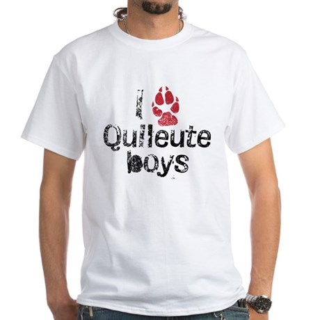 I Paw Quileute Boys White T-Shirt